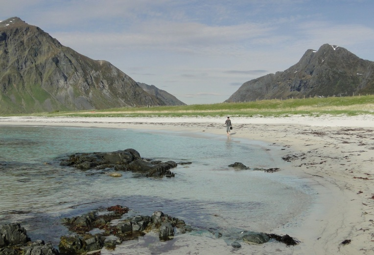 Skagsanden Beach, Lofoten, Norway