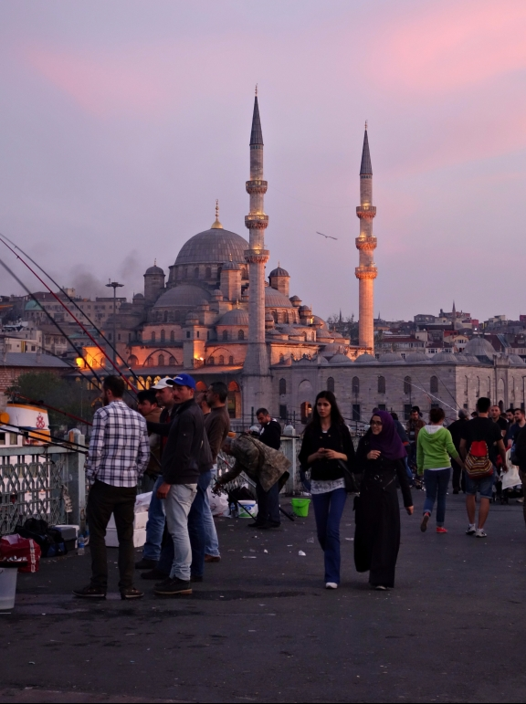 Galata Bridge, sundown