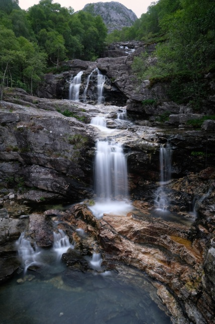 Waterfall near Lyseboten, Norway, 4 seconds